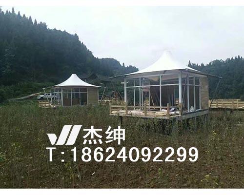 木屋屋顶膜结构罩棚