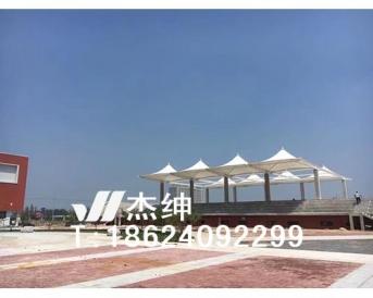 沈阳辽中区第1高中学校体育场看台膜结构