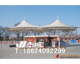 沈阳某部队加油站膜结构结构罩棚