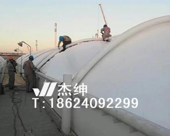 石化烯烃厂污水处理池膜结构罩棚