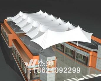 商业广场连廊膜结构罩棚