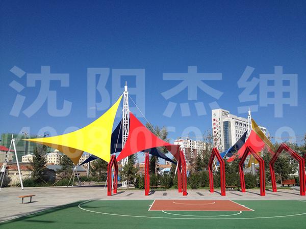 内蒙古海拉尔东升路市民广场景观膜结构中心
